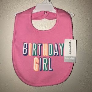 Birthday Girl Bib NWT